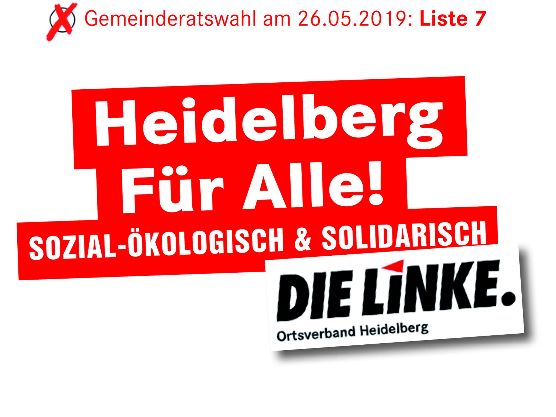 Der Titel des Kommunalwahlprogramms der LINKEN Heidelberg 2019