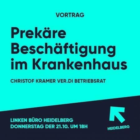 """""""Prekäre Beschäftigung im Krankenhaus"""" mit Verdi Betriebsrat Christof Kramer"""